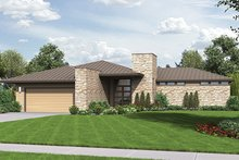 Architectural House Design - Contemporary Exterior - Front Elevation Plan #48-916
