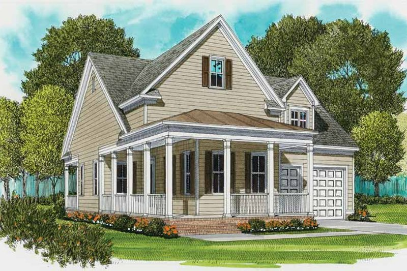 Country Exterior - Front Elevation Plan #413-893