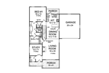 Country Floor Plan - Main Floor Plan Plan #513-2164