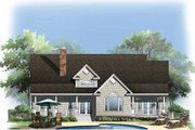 Country Style House Plan - 4 Beds 3 Baths 2051 Sq/Ft Plan #929-776 Exterior - Rear Elevation