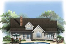 House Plan Design - Country Exterior - Rear Elevation Plan #929-776