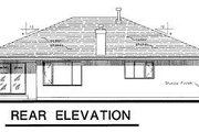 Ranch Style House Plan - 3 Beds 2 Baths 1870 Sq/Ft Plan #18-109 Exterior - Rear Elevation