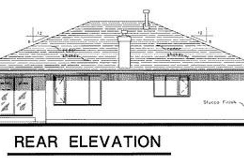 Ranch Exterior - Rear Elevation Plan #18-109 - Houseplans.com