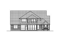 Colonial Exterior - Rear Elevation Plan #84-421