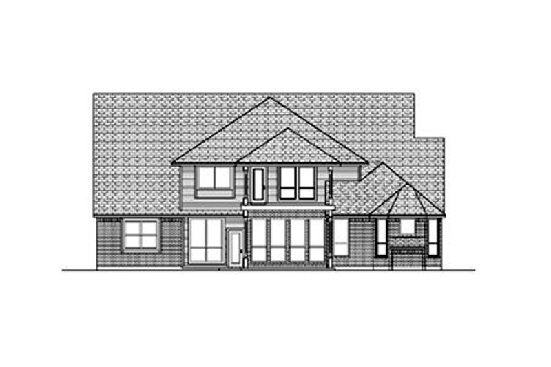Colonial Exterior - Rear Elevation Plan #84-421 - Houseplans.com