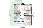 Farmhouse Style House Plan - 4 Beds 2 Baths 1617 Sq/Ft Plan #23-2582