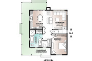 Farmhouse Style House Plan - 4 Beds 2 Baths 1617 Sq/Ft Plan #23-2582 Floor Plan - Main Floor Plan