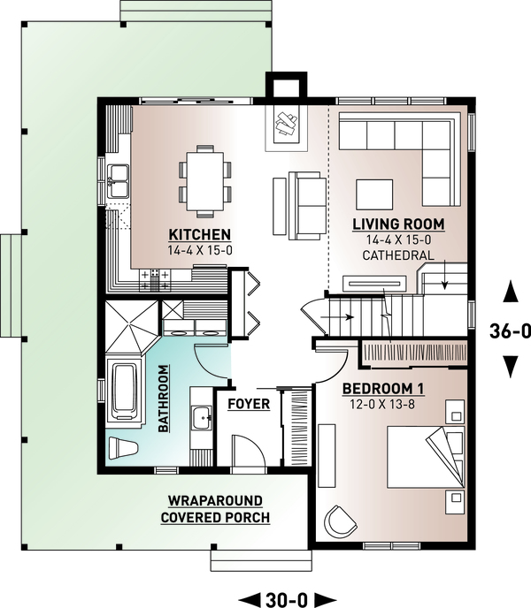 Farmhouse Floor Plan - Main Floor Plan #23-2582