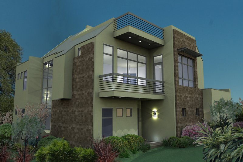 Modern Exterior - Rear Elevation Plan #120-169 - Houseplans.com