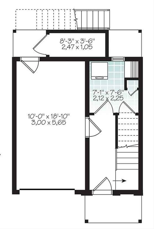 Contemporary Floor Plan - Main Floor Plan Plan #23-2600