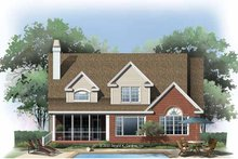 Home Plan - Traditional Exterior - Rear Elevation Plan #929-775