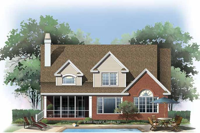 Traditional Exterior - Rear Elevation Plan #929-775 - Houseplans.com