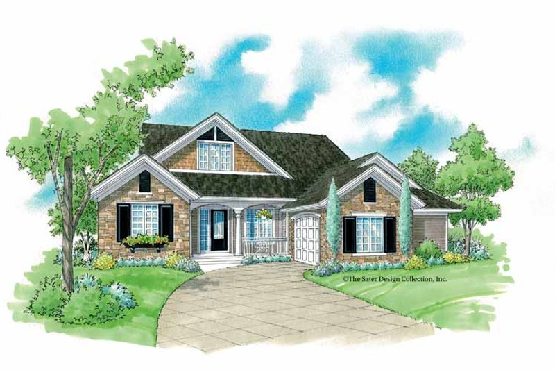 Country Exterior - Front Elevation Plan #930-234