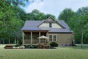 Craftsman Style House Plan - 3 Beds 2 Baths 1905 Sq/Ft Plan #923-141 Exterior - Rear Elevation
