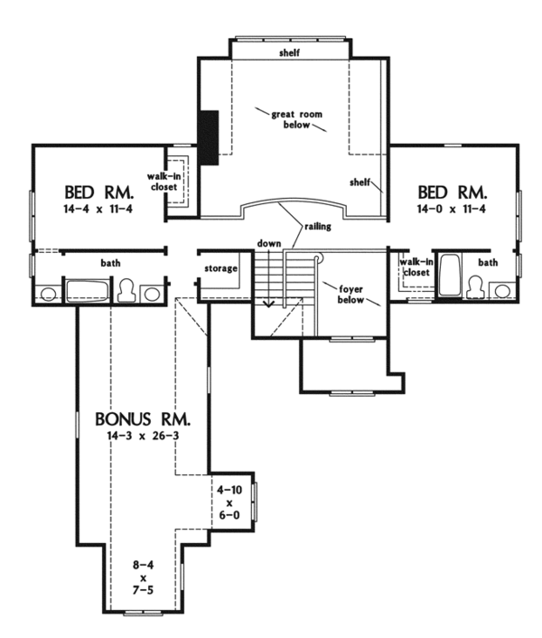 House Plan Design - European Floor Plan - Upper Floor Plan #929-922