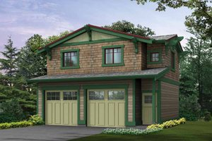 Architectural House Design - Craftsman Exterior - Front Elevation Plan #132-273