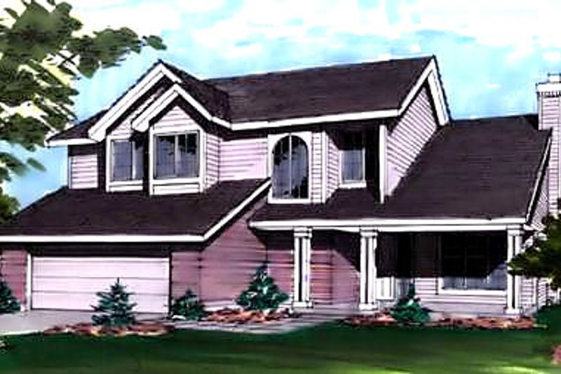 Country Exterior - Front Elevation Plan #320-436