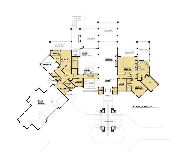 Classical Floor Plan - Main Floor Plan Plan #1066-86