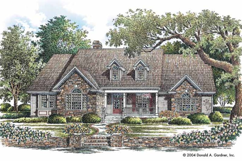 Bungalow Exterior - Front Elevation Plan #929-720