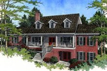 Dream House Plan - Southern Exterior - Front Elevation Plan #56-185