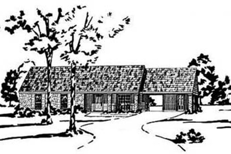 Ranch Exterior - Front Elevation Plan #36-106 - Houseplans.com