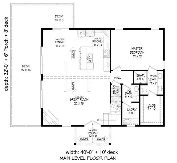 Dream House Plan - Farmhouse Floor Plan - Main Floor Plan #932-387
