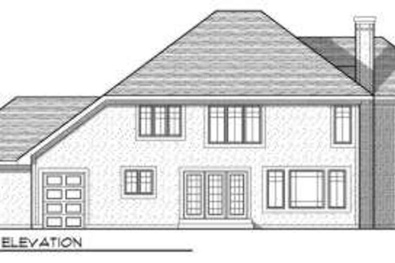 Traditional Exterior - Rear Elevation Plan #70-732 - Houseplans.com