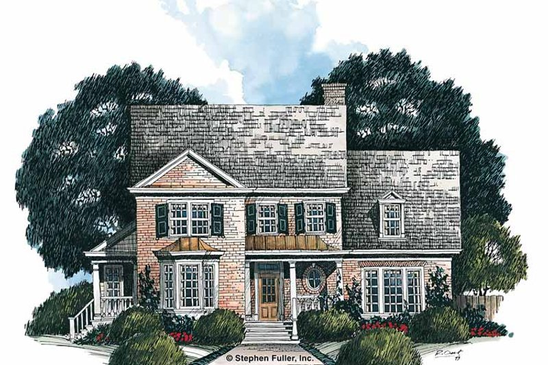 Colonial Exterior - Front Elevation Plan #429-170