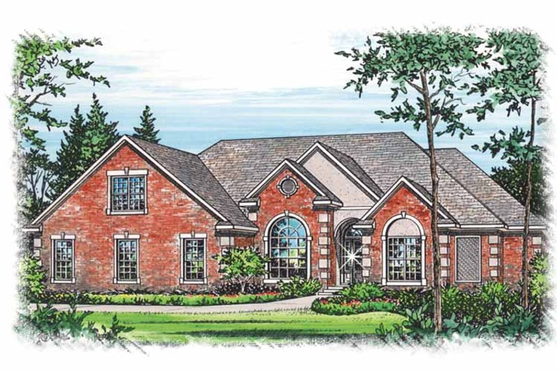 Traditional Exterior - Front Elevation Plan #15-296 - Houseplans.com
