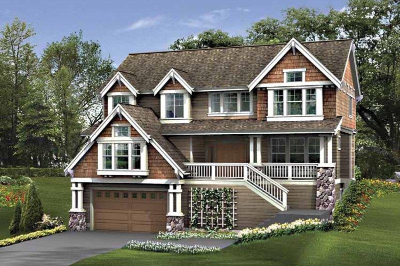 Craftsman Exterior - Front Elevation Plan #132-402