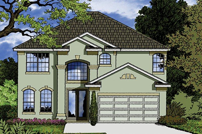 Architectural House Design - Mediterranean Exterior - Front Elevation Plan #417-833