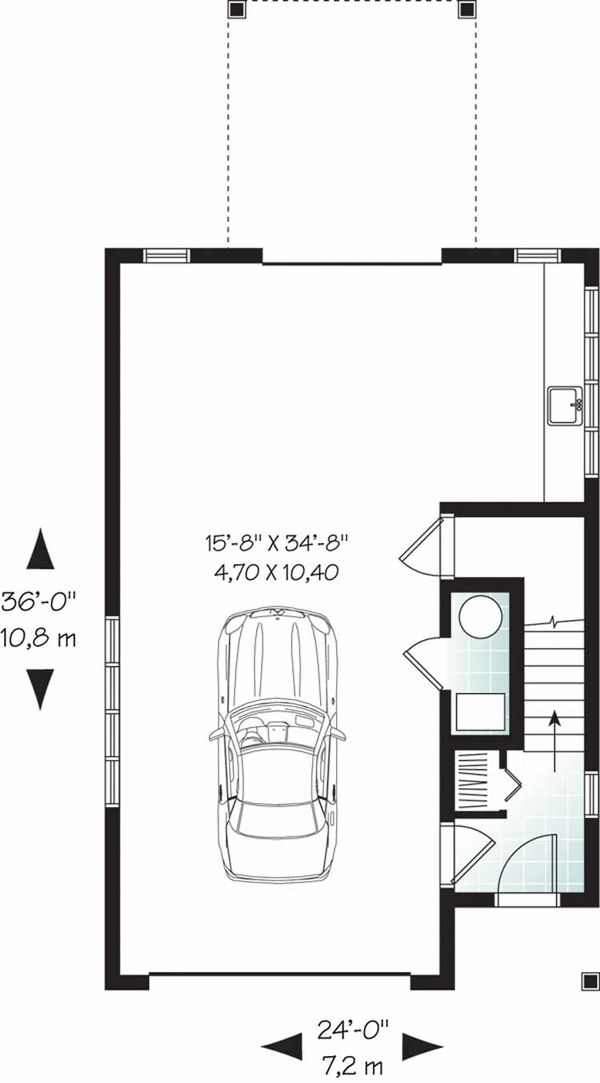 Country Floor Plan - Lower Floor Plan Plan #23-2461