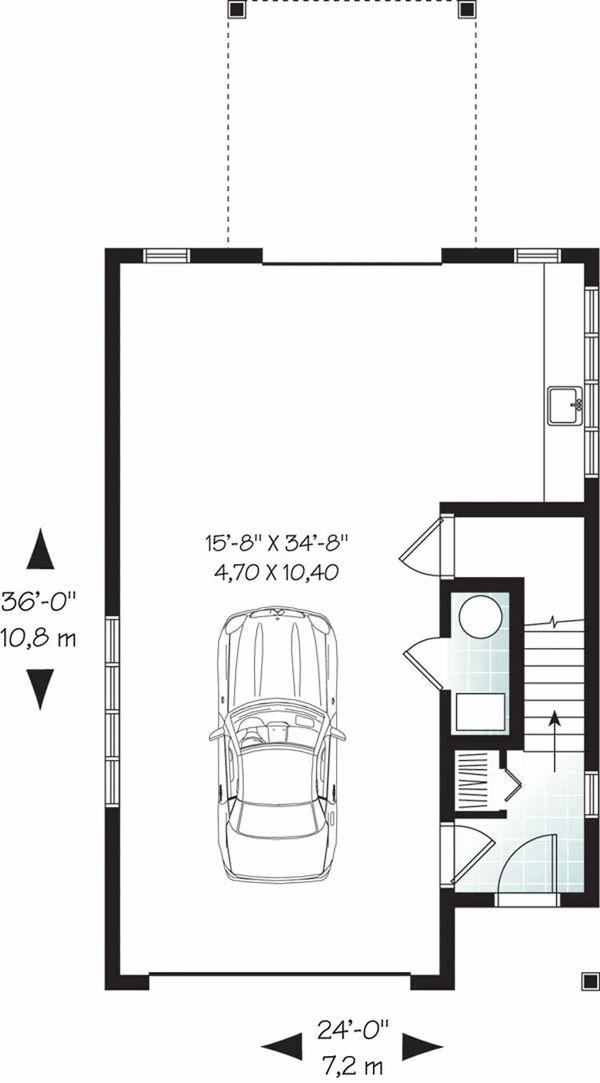 Home Plan - Country Floor Plan - Lower Floor Plan #23-2461