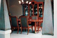 Architectural House Design - Mediterranean Interior - Dining Room Plan #47-895