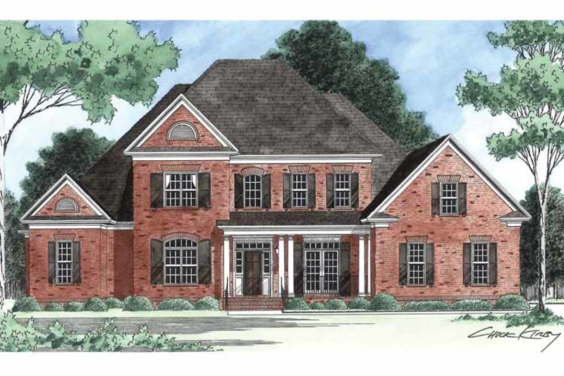 Traditional Exterior - Front Elevation Plan #1054-8 - Houseplans.com