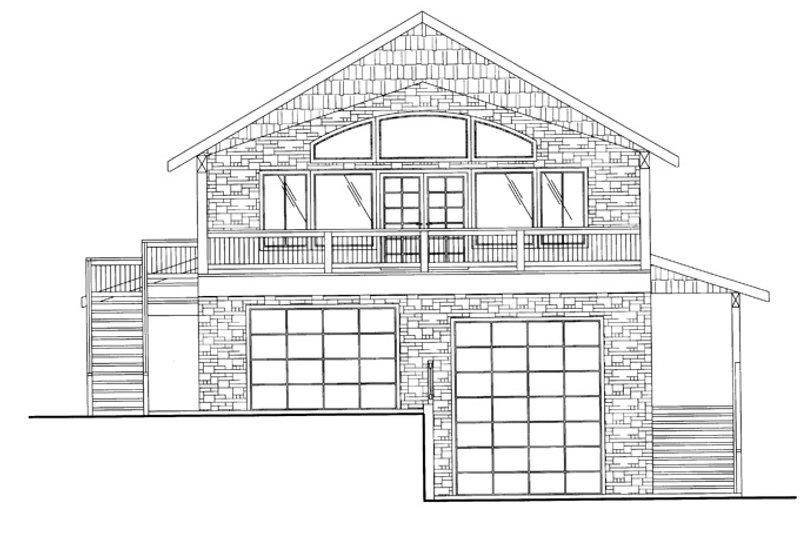 Contemporary Exterior - Front Elevation Plan #117-839 - Houseplans.com