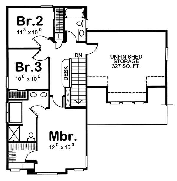 Home Plan - Craftsman Floor Plan - Upper Floor Plan #20-1213