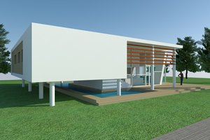 Modern Exterior - Other Elevation Plan #473-2