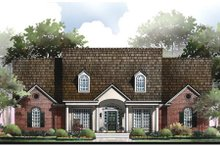 Southern Exterior - Front Elevation Plan #406-121