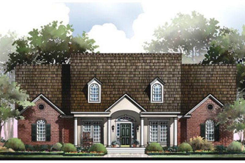 Southern Exterior - Front Elevation Plan #406-121 - Houseplans.com