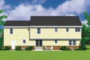 Traditional Style House Plan - 4 Beds 2.5 Baths 2391 Sq/Ft Plan #72-480 Exterior - Rear Elevation