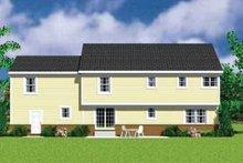 House Blueprint - Traditional Exterior - Rear Elevation Plan #72-480