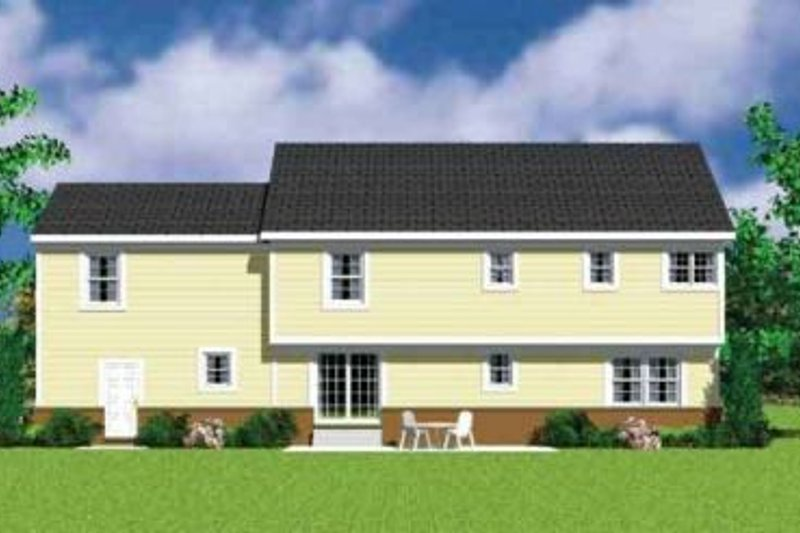 Traditional Exterior - Rear Elevation Plan #72-480 - Houseplans.com