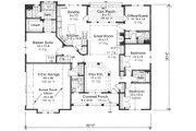 Craftsman Style House Plan - 4 Beds 3 Baths 2202 Sq/Ft Plan #51-511 Floor Plan - Main Floor Plan