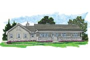 Country Style House Plan - 3 Beds 2 Baths 1652 Sq/Ft Plan #47-423 Exterior - Front Elevation