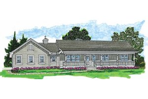 Country Exterior - Front Elevation Plan #47-423
