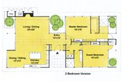 Ranch Style House Plan - 2 Beds 2 Baths 2360 Sq/Ft Plan #544-2
