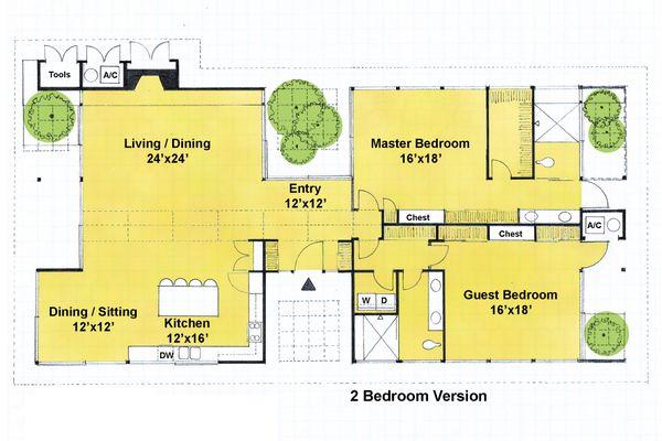 Ranch Floor Plan - Main Floor Plan Plan #544-2