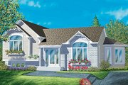 Traditional Style House Plan - 2 Beds 1 Baths 1220 Sq/Ft Plan #25-342 Exterior - Front Elevation