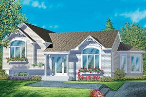 Traditional Exterior - Front Elevation Plan #25-342